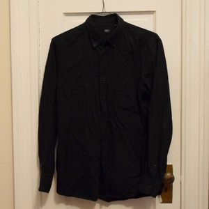 Uniqlo Black Button Down Men's Medium